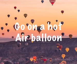 fly, hot air balloon, and list image