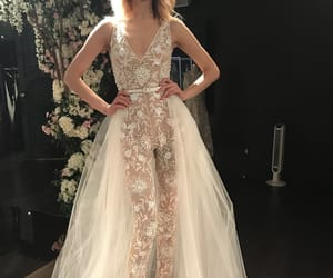 bride, jumpsuit, and wedding dress image