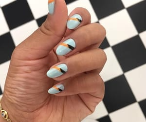 black, blue, and nail art image