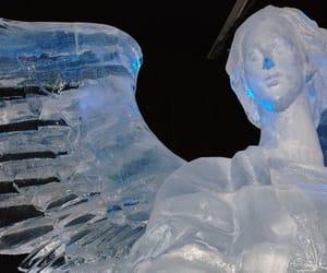 angel, ice, and aesthetic image