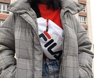 outfit, fashion, and Fila image