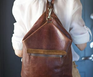 etsy, leather rucksack, and brown backpack image
