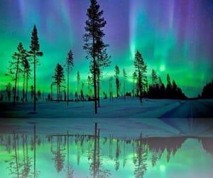 northern lights, alaska, and nature image