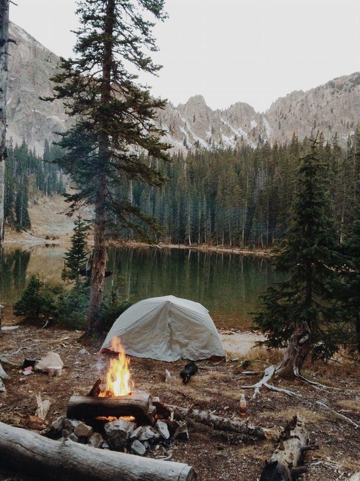 nature, camping, and lake image