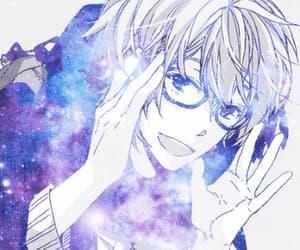 anime, gif, and galaxy image