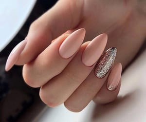 nails, Nude, and shimmer image