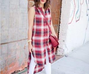 plaid shirt dress image