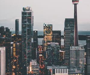 city, lights, and toronto image