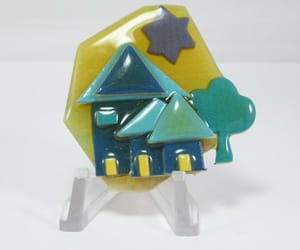 etsy, house brooch, and retired house image