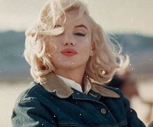 Marilyn Monroe, blonde, and vintage image