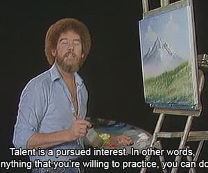 art, bob ross, and gif image