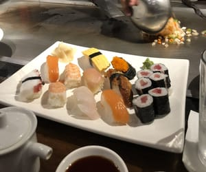 raw, sampler, and sushi image