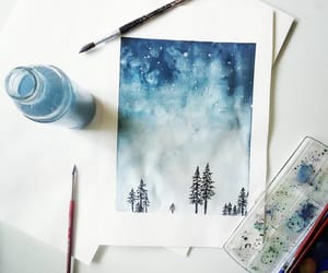 art, atmospheric, and blue image