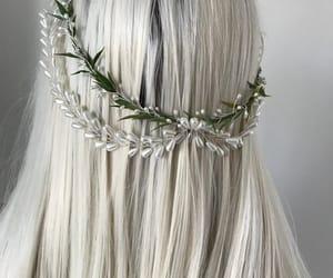etsy, wedding headband, and pearl headband image