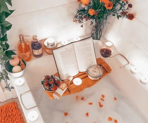 bath, bath bombs, and orange image