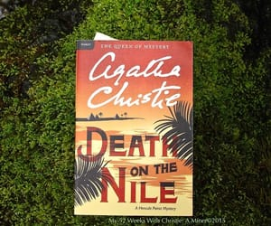 agatha christie, book, and death on the nile image