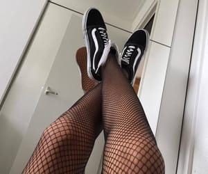 aesthetic, pale, and fishnets image