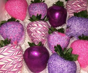 strawberry, pink, and purple image