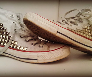 all stars, converse, and studded image