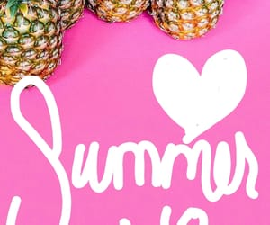 pineapple, pink, and summer image