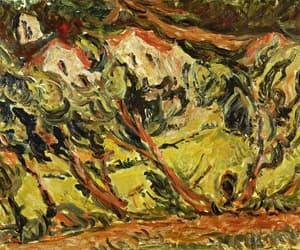 disturbing, painting, and village image