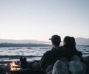 couple, beach, and boy image