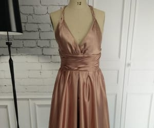 prom dress, halter prom dress, and prom gown image