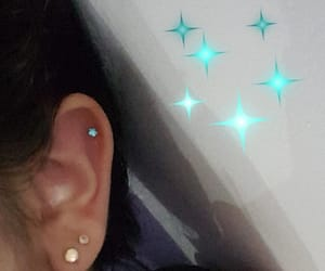 blue, ear, and piercing image