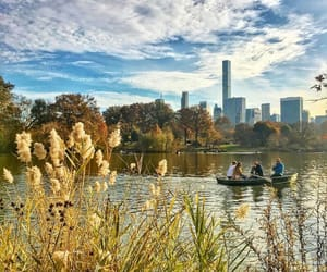 Central Park, city, and lake image