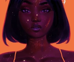 art, stars, and beauty image