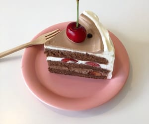 asian, cafe, and cake image