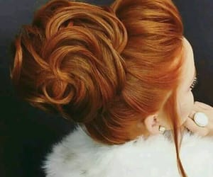cabelo, ginger, and penteado image