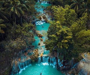 Philippines, waterfall, and blue image