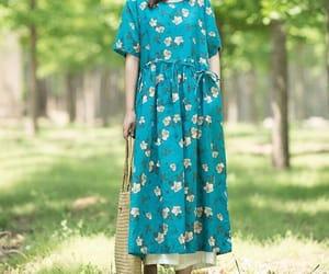 blue dress, holiday dress, and long dresses image