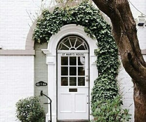 white, green, and house image