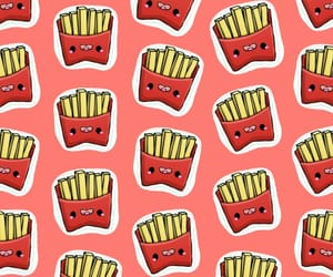 fries, patron, and pattern image