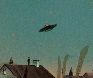alien, art, and sky image