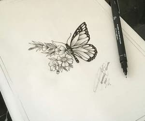 beautiful, butterfly, and tattoo image