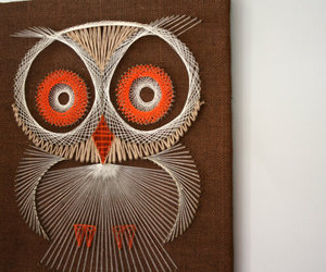 buho and string art image