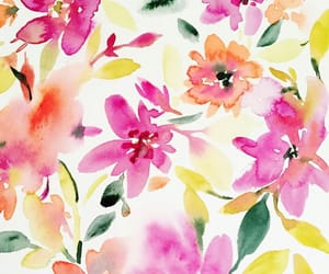 art, background, and floral image