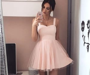 dress, pink dress, and Prom image