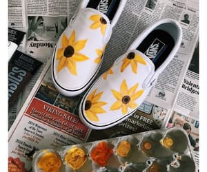 shoes, sunflower, and white image