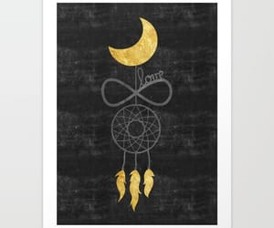 boho, dreamcatcher, and moon image