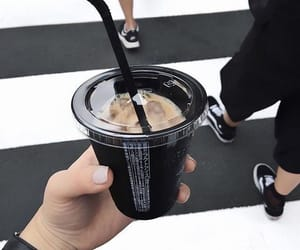 black, coffee, and drink image
