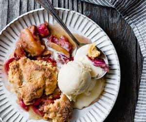 apple, cobbler, and food image
