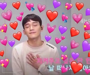 exo, Chen, and meme image