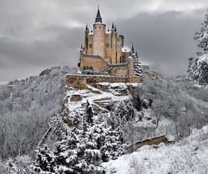 castle and snow image