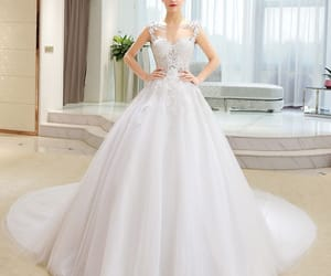 ball gown, pierced, and wedding image