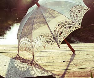 umbrella, vintage, and white image