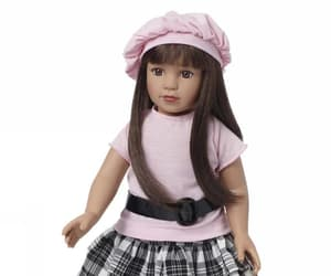 doll beret, shining star dolls, and 18 inch doll boots image